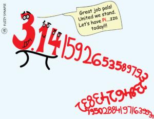 pi day, pi, maths cartoon. scicomm